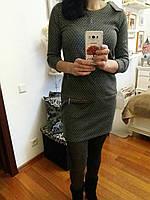 Молодежное платье с четвертным рукавчиком, 38-46 р-ры, 310/280 (цена за 1 шт. + 30 гр.)