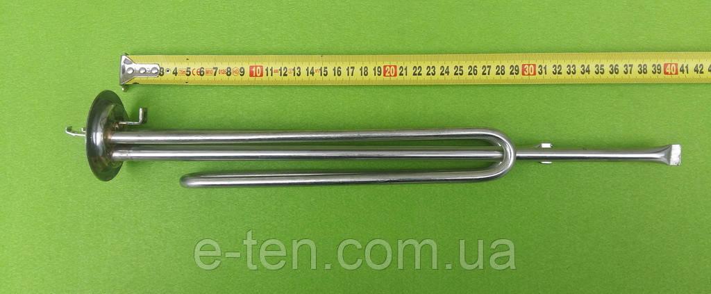 Тэн гнутый (НЕРЖАВЕЙКА) 2000W для бойлеров Thermex / на фланце Ø63мм / 2 трубки под термодатчики     Турция