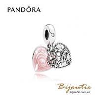 Pandora Шарм-подвеска ЛЮБОВЬ - СЕМЬЯ #796459EN28 серебро 925 Пандора оригинал