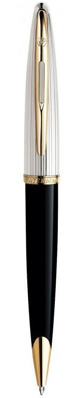 Брендовая ручка шариковая Waterman Carene Deluxe Black/silver BP 21 200 чёрный
