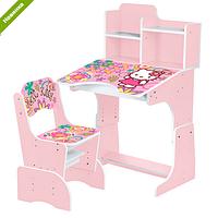 Парта детская школьная растишка W 2071-48-3 Хелло Китти розовая ***