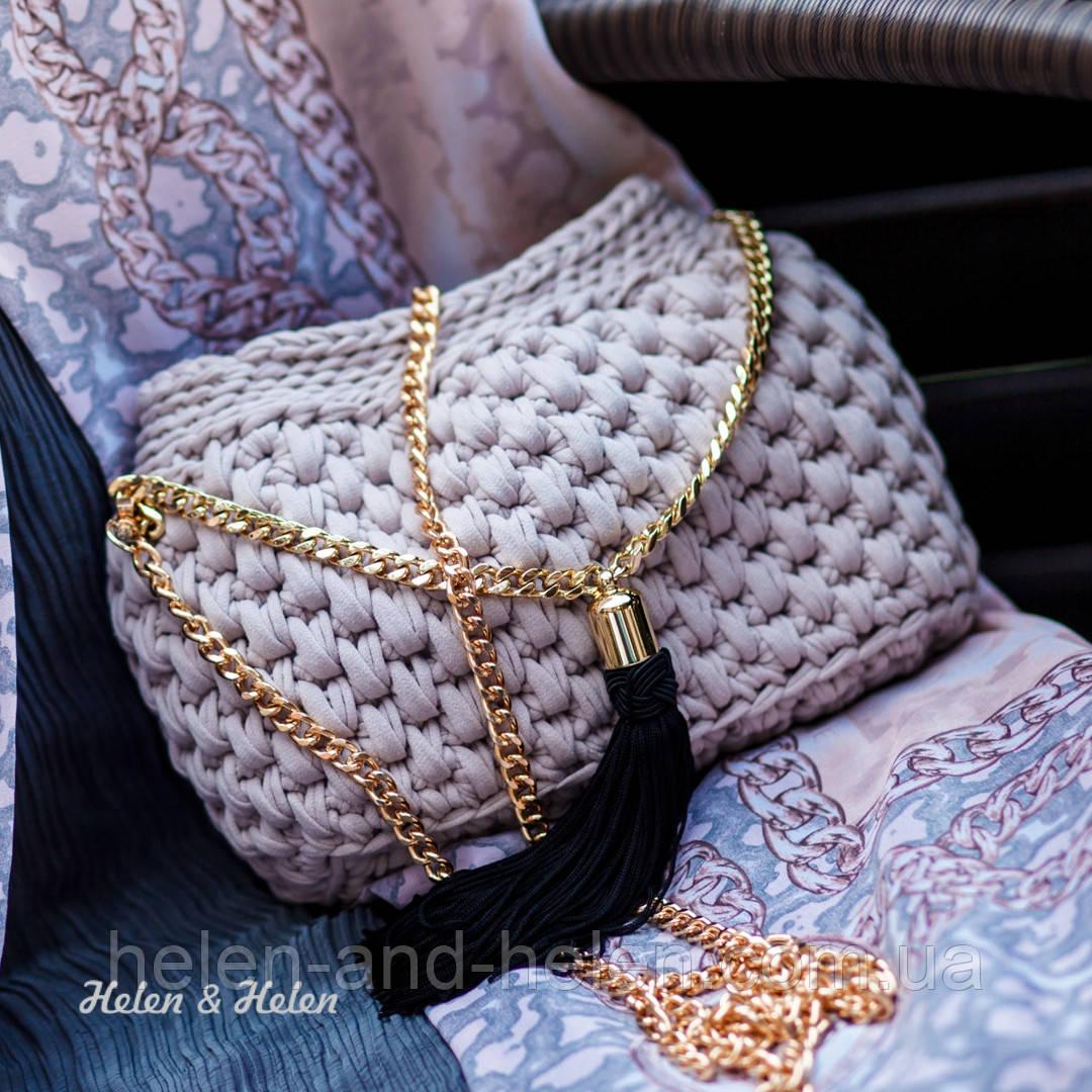 416e3ba5c01a Женский клатч на цепочке цвета пудры.Фурнитура цвета