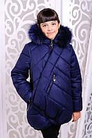 Зимняя детская  куртка для девочки Элма джинс