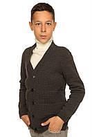 Вязаная кофта для мальчика Марк темно-серый