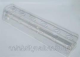 Подставка для расчесок прозрачная PP-01