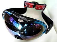 Очки маска лыжная Okly сноубордическая защита u.v 400nm зеркальные