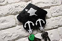 Ключница из дерева: Пираты, чёрная (на 2 брелка ), фото 1