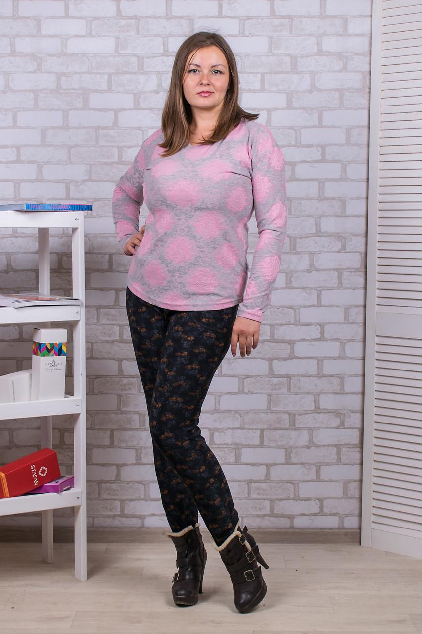 Женские цветные штаны на меху Nanhai A899-1 5XL. Размер 52-56.