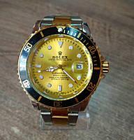 Часы наручные мужские Rolex Daytona silver-gold-gold
