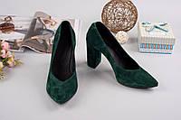 Замшевые женские туфли Olimpia зеленые