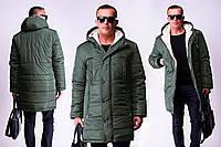 Зимняя мужская длинная куртка