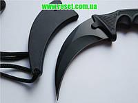 Изогнутый нож «Karambit» (керамбит) CS:GО для геймеров черный (черная ночь)