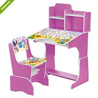 Парта детская школьная растишка BL 2071-51-2(EN) фиолетовая  ***