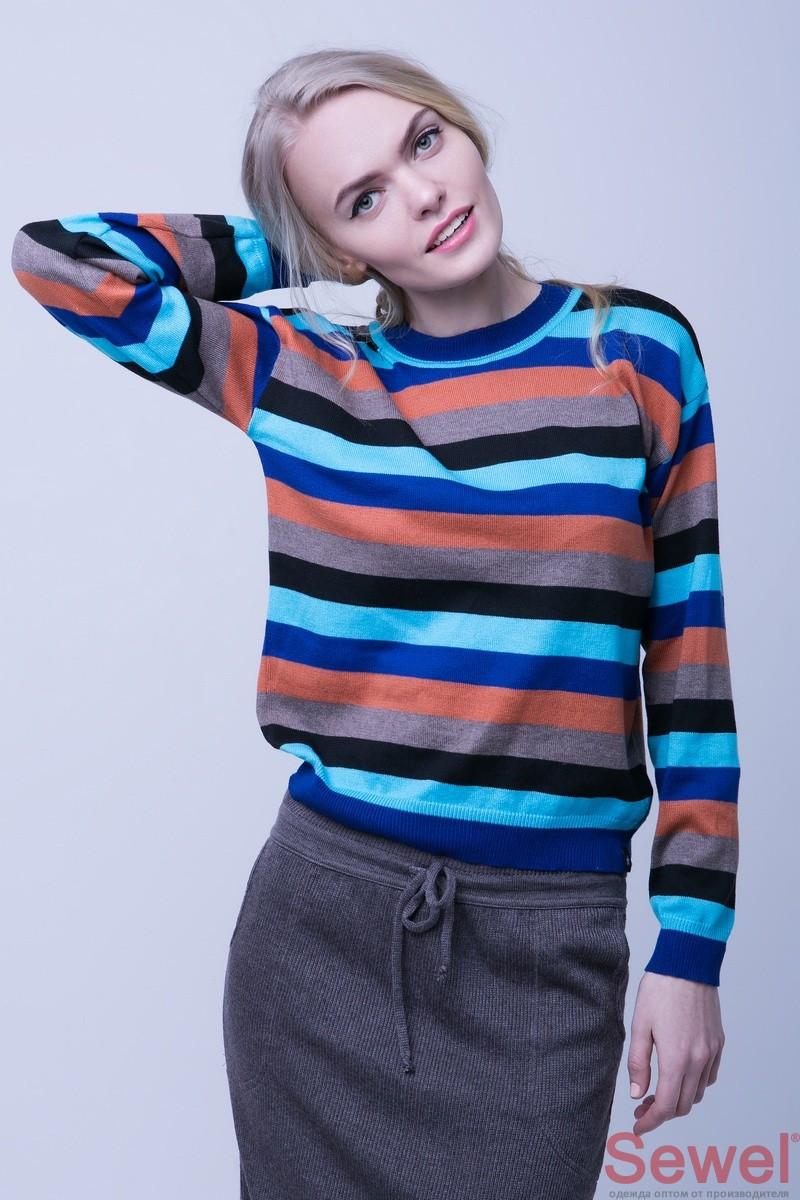 Яркий женский осенний свитер
