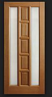 Дверное полотно шпонированое Коллекции Стиль Квадрат стекло по бокам Омис