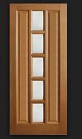 Двери межкомнатные шпонированые Коллекции Стиль Квадрат стекло по середине Омис
