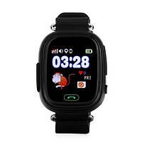 Детские телефон-часы с GPS трекером UWatch Q100 черные