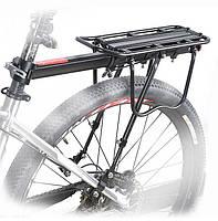 Вело багажник консольный универсальный быстросъёмный алюминиевый на подседельный штырь с упором на перья