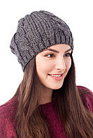 Женская шапка крупной вязки в расцветках