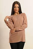 Женская шифоновая блуза Айрин цвет латте Ри Мари 42-56р.
