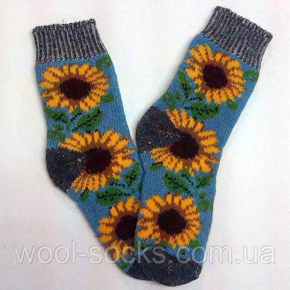 Теплые шерстяные носки женские