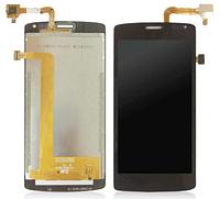 Дисплей (экран) для Fly iQ4417 Quad ERA Energie 3 + с сенсором (тачскрином) черный Оригинал
