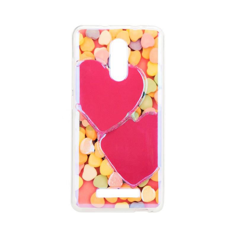 Чехол накладка силиконовый Remax Light для Huawei Y3 2017 Candy Hearts
