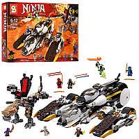 """Конструктор SY593 Ninja  """"Внедорожник с суперсистемой маскировки"""" 1168 деталей (аналог Lego Ninjago 70595)"""