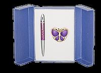 """Набор подарочный """"papillon"""": ручка (Ш) + крючок д/ сумки, фиолетовый ls.122010-07"""