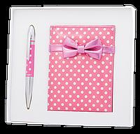 """Набор подарочный """"monro"""": ручка шариковая + зеркало, розовый ls.122036-10"""