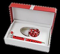 """Набор подарочный """"elegance"""": ручка (Ш) + крючек д/ сумки, красный ls.122029-05"""
