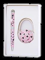 """Набор подарочный """"elegance"""": ручка (Ш) + крючек д/ сумки, розовый ls.122029-10"""