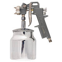 Фарборозпилювач пневмат. з нижнім бачком V=1,0 л + сопла діаметром 1.2, 1.5 1.8 мм MTX 573169