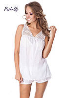 Хлопковая женская пижама белого цвета Suavite Валери-К