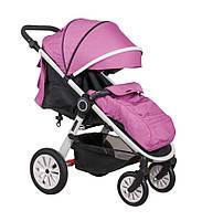 Прогулочная коляска для детей Coletto Joggy 02 розовая,белая рама