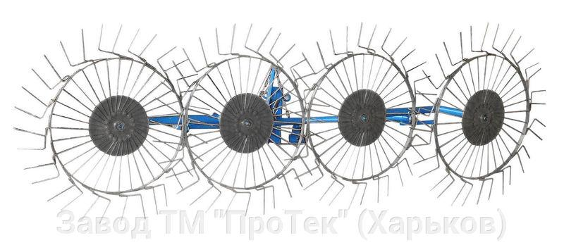 Грабли ворошилки навесные ПроТек типа СОЛНЫШКО для мотоблока