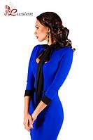 Трикотажное женское платье с бантом Casual 01