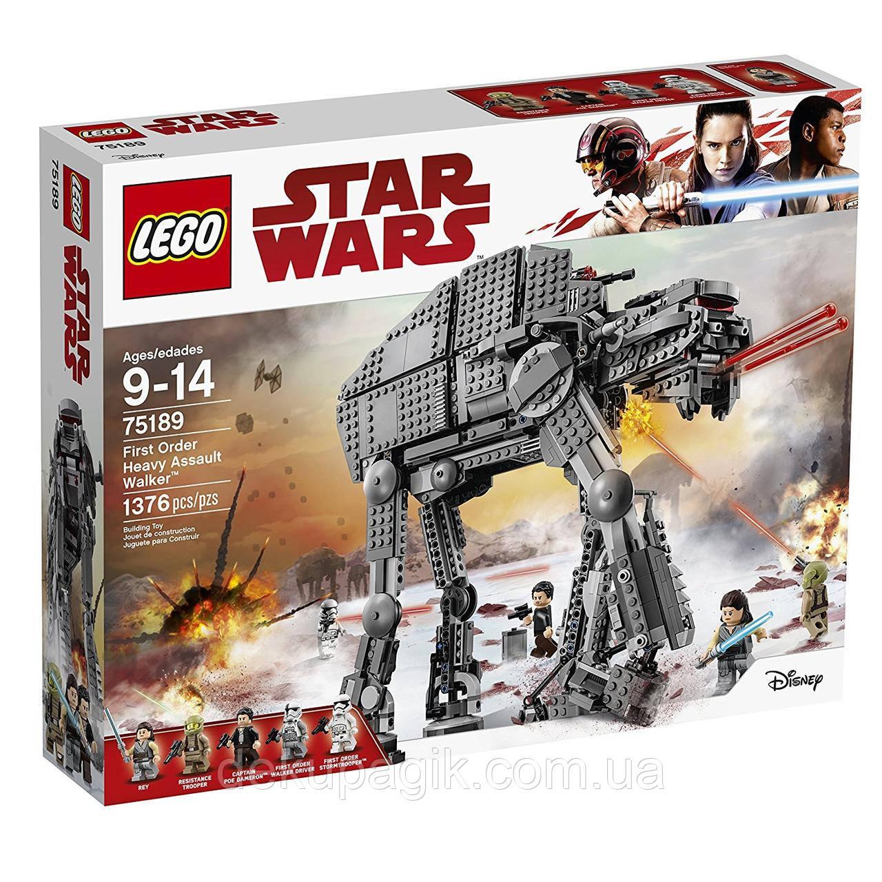Lego Star Wars Штурмовой шагоход Первого Ордена 75189