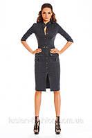 Элегантное платье-сафари casual 133