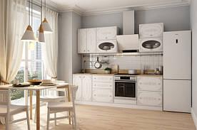 Белая серийная  кухня в оригинальном стиле