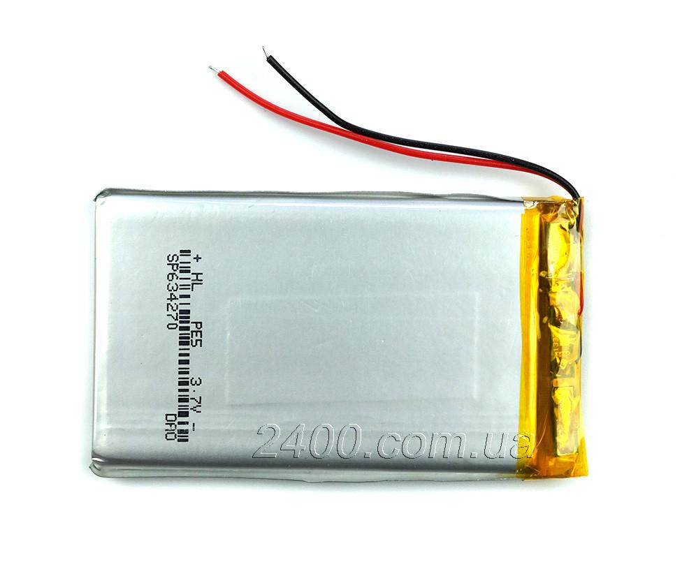 Аккумулятор 1800мАч 604070 3,7в для модемов, MP3 плееров, GPS навигаторов, електронных книг (1800mAh)