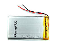 Аккумулятор 1800мАч 604070 3,7в для видеорегистратора, GPS навигатора, видео камеры 1800mAh 3.7v 6*40*70 мм