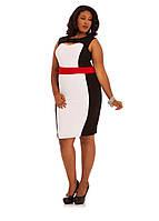 Стильное деловое  платье для полных женщин