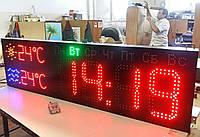 Светодиодные эксклюзивные часы с календарем и термометром, фото 1