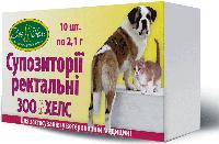 Свечи Зоохелс (суппозитории ректальные) для собак и кошек 10 шт