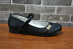 Детские туфли для девочки черные