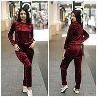 Женский велюровый спортивный костюм q-450535