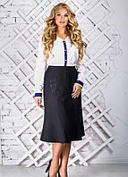 Женская юбка с ассиметричным воланом 2312 размер 52-58