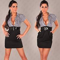 Платье Стиль клетка- расспродажа последний размер!42-44