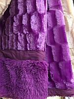 Покрывало на кровать меховое Норка 200х230 цвет фиолетовый